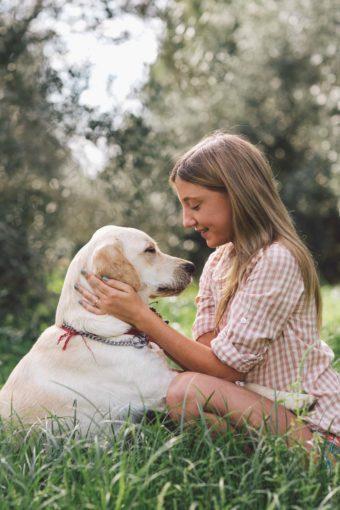 בוק אישי בטבע לדריה והכלבה המתוקה שלה