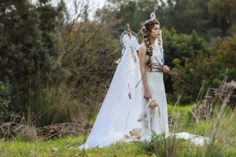 צילום בוק בת מצווה בטבע לליה שקד , כוכבת המחזמר אנני. בוק בת מצווה שהוא הפקת אופנה