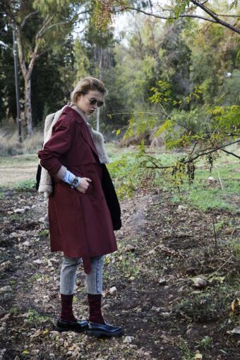 צילום הפקת אופנה בלוקיישן בטבע עם הדוגמנית נלי